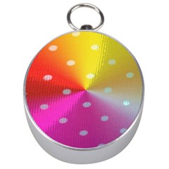 Polka Dots Pattern Colorful Colors Silver Compasses