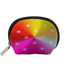 Polka Dots Pattern Colorful Colors Accessory Pouches (Small)