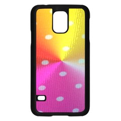 Polka Dots Pattern Colorful Colors Samsung Galaxy S5 Case (Black)
