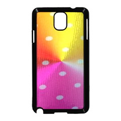 Polka Dots Pattern Colorful Colors Samsung Galaxy Note 3 Neo Hardshell Case (Black)