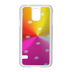 Polka Dots Pattern Colorful Colors Samsung Galaxy S5 Case (White)
