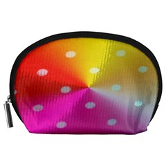 Polka Dots Pattern Colorful Colors Accessory Pouches (large)