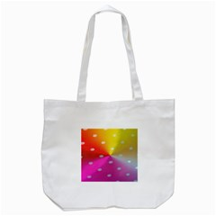 Polka Dots Pattern Colorful Colors Tote Bag (White)