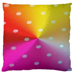Polka Dots Pattern Colorful Colors Standard Flano Cushion Case (One Side)