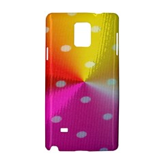Polka Dots Pattern Colorful Colors Samsung Galaxy Note 4 Hardshell Case
