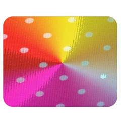Polka Dots Pattern Colorful Colors Double Sided Flano Blanket (Medium)