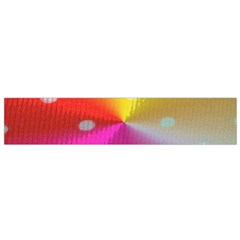 Polka Dots Pattern Colorful Colors Flano Scarf (Small)