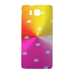 Polka Dots Pattern Colorful Colors Samsung Galaxy Alpha Hardshell Back Case