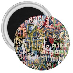 Graffiti Wall Pattern Background 3  Magnets