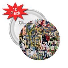 Graffiti Wall Pattern Background 2 25  Buttons (10 Pack)