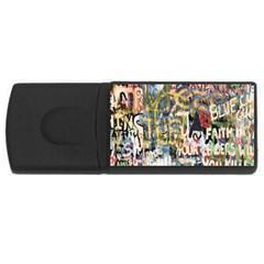 Graffiti Wall Pattern Background USB Flash Drive Rectangular (2 GB)