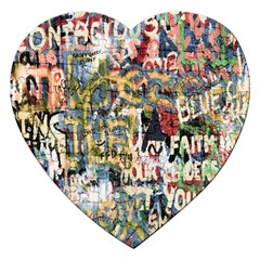 Graffiti Wall Pattern Background Jigsaw Puzzle (heart)