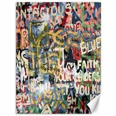 Graffiti Wall Pattern Background Canvas 36  X 48