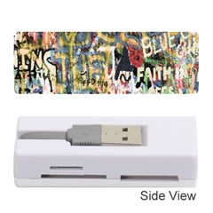 Graffiti Wall Pattern Background Memory Card Reader (stick)