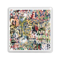 Graffiti Wall Pattern Background Memory Card Reader (square)