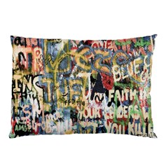 Graffiti Wall Pattern Background Pillow Case (Two Sides)
