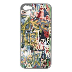 Graffiti Wall Pattern Background Apple iPhone 5 Case (Silver)