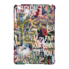 Graffiti Wall Pattern Background Apple iPad Mini Hardshell Case (Compatible with Smart Cover)