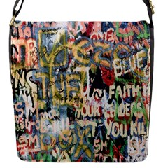Graffiti Wall Pattern Background Flap Messenger Bag (s)