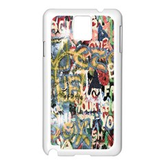 Graffiti Wall Pattern Background Samsung Galaxy Note 3 N9005 Case (White)