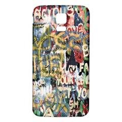 Graffiti Wall Pattern Background Samsung Galaxy S5 Back Case (White)