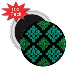 Vintage Paper Kraft Pattern 2 25  Magnets (100 Pack)