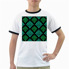 Vintage Paper Kraft Pattern Ringer T Shirts