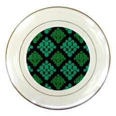 Vintage Paper Kraft Pattern Porcelain Plates