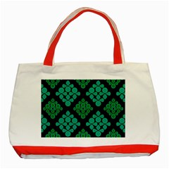 Vintage Paper Kraft Pattern Classic Tote Bag (red)
