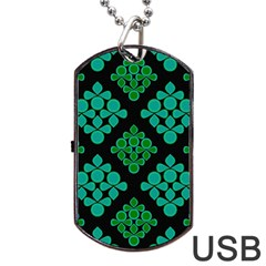 Vintage Paper Kraft Pattern Dog Tag USB Flash (Two Sides)