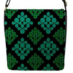 Vintage Paper Kraft Pattern Flap Messenger Bag (S)