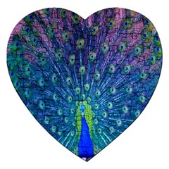 Amazing Peacock Jigsaw Puzzle (heart)