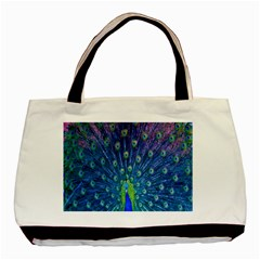 Amazing Peacock Basic Tote Bag (two Sides)