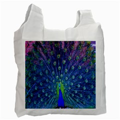 Amazing Peacock Recycle Bag (one Side)