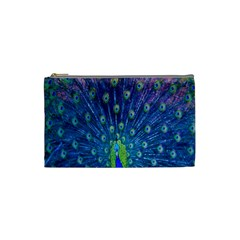 Amazing Peacock Cosmetic Bag (small)