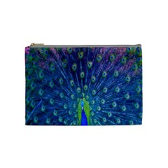 Amazing Peacock Cosmetic Bag (medium)