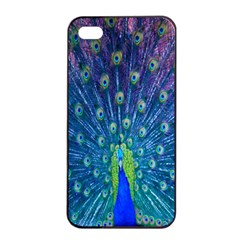 Amazing Peacock Apple iPhone 4/4s Seamless Case (Black)