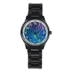 Amazing Peacock Stainless Steel Round Watch