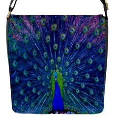 Amazing Peacock Flap Messenger Bag (S)