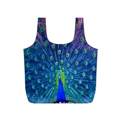 Amazing Peacock Full Print Recycle Bags (S)