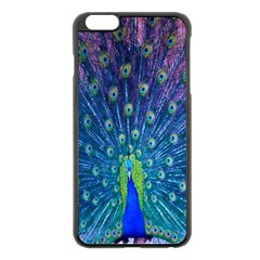 Amazing Peacock Apple Iphone 6 Plus/6s Plus Black Enamel Case