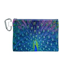 Amazing Peacock Canvas Cosmetic Bag (M)