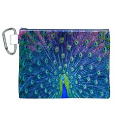 Amazing Peacock Canvas Cosmetic Bag (XL)