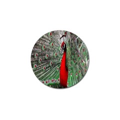 Red Peacock Golf Ball Marker (10 pack)
