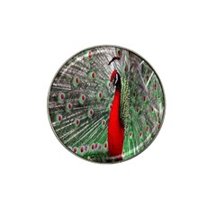 Red Peacock Hat Clip Ball Marker (4 Pack)