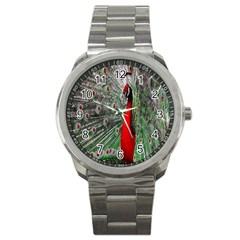 Red Peacock Sport Metal Watch