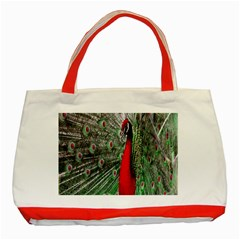 Red Peacock Classic Tote Bag (red)