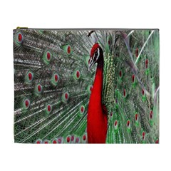 Red Peacock Cosmetic Bag (xl)