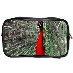 Red Peacock Toiletries Bags 2 Side