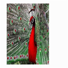 Red Peacock Small Garden Flag (two Sides)
